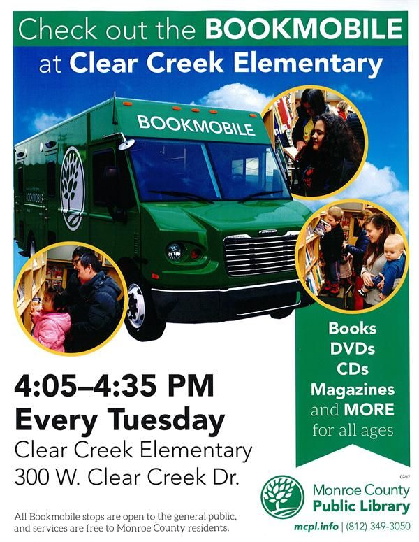 MCPL Bookmobile at Clear Creek