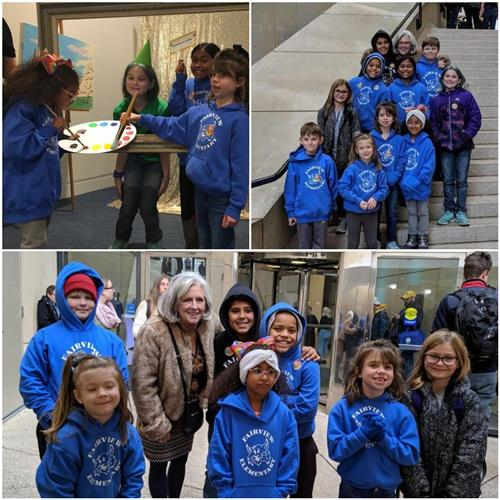 Fairview Students first children to visit the new Sidney and Lois Eskenazi Museum of Art at Indiana University.
