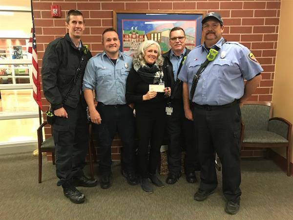 Fire Fighters donate to Fairview
