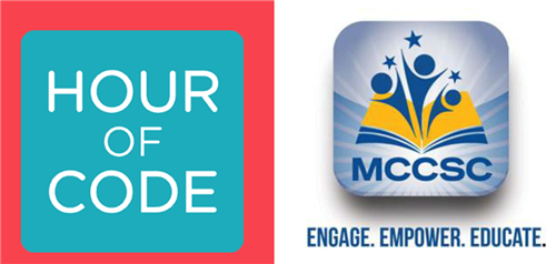 Hour of Code and MCCSC logos