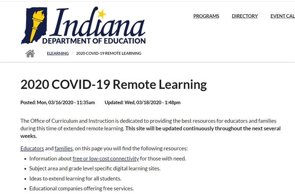 IDOE Remote Learning Resources