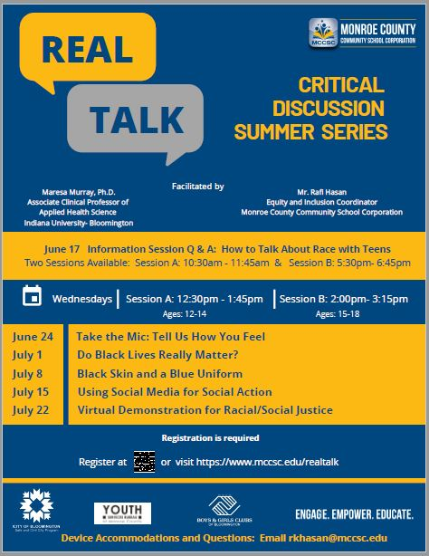 MCCSC Real Talk Summer Series