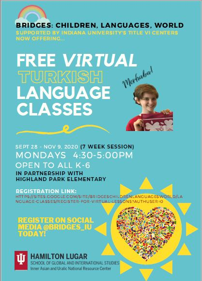 Turkish Language Classes begin Monday, Sept. 28th!