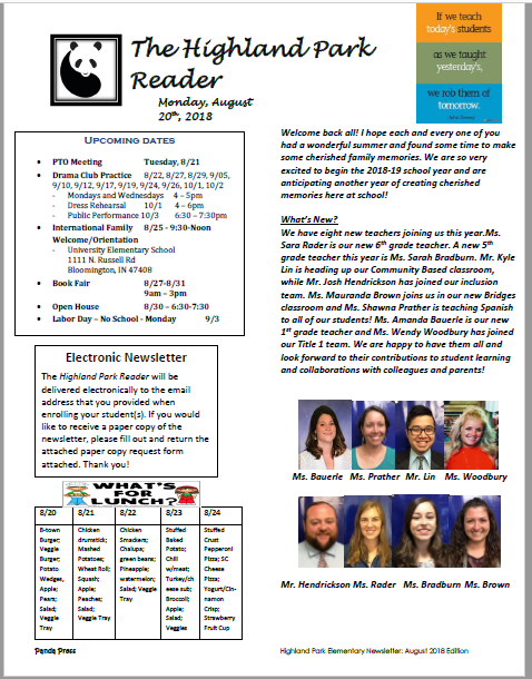 The Highland Park Reader
