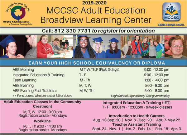 Adult Basic Education Schedule