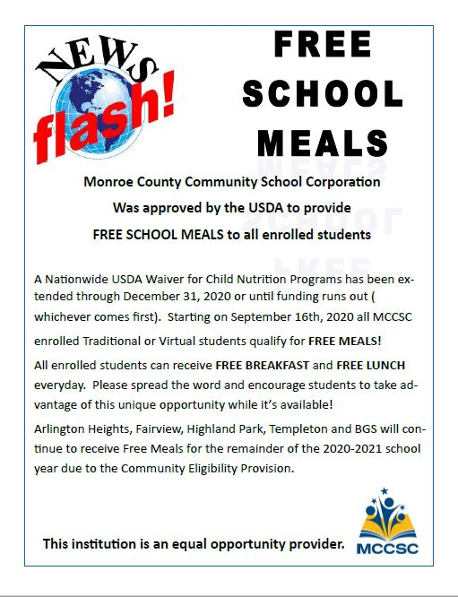 Free School Meals for All Enrolled Students