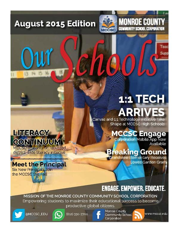 August 2015 Our Schools Newsletter