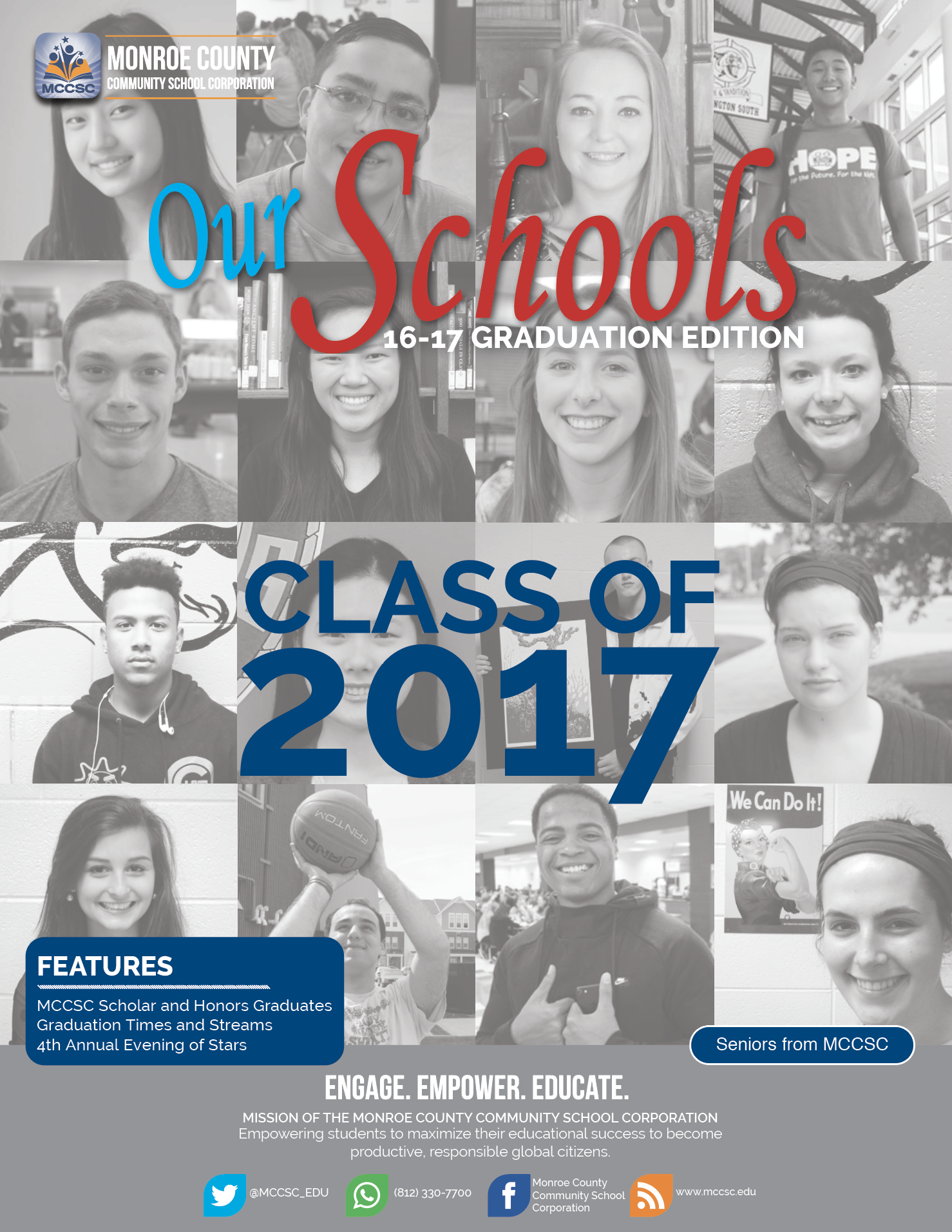 2016-2017 Our Schools Graduation Edition Cover